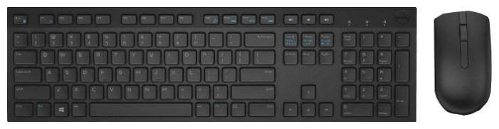 DELL Клавиатура и мышь DELL KM636 Wireless Keyboard and Mouse Black USB