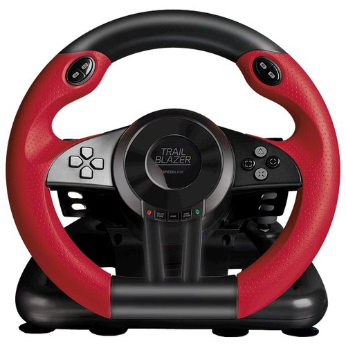 Руль SPEEDLINK Trailblazer Racing Wheel for PS4/Xbox One/PS3/PC (SL-450500), черный/красный