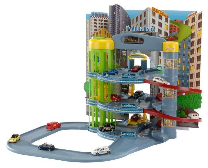 Majorette Парковка 3-х уровневая с мойкой, заправкой и лифтом (5 машинок), 205819