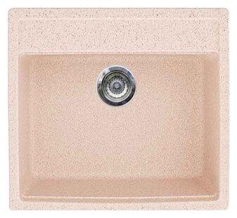 Врезная кухонная мойка Gran-Stone GS-06 57х51см искусственный мрамор
