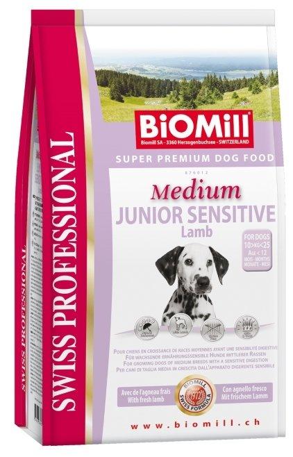 Корм для собак Biomill Swiss Professional Medium Junior Sensitive Lamb