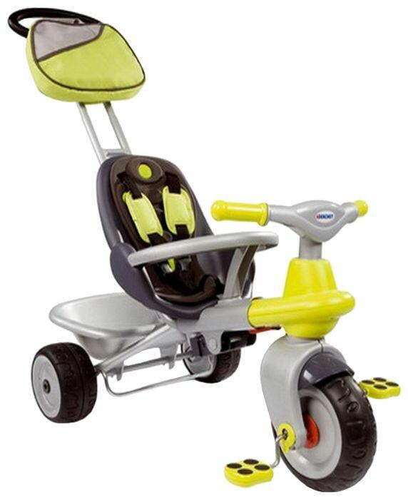 Трехколесный велосипед Smoby 414007 Baby Too Cocooning Grey-Green