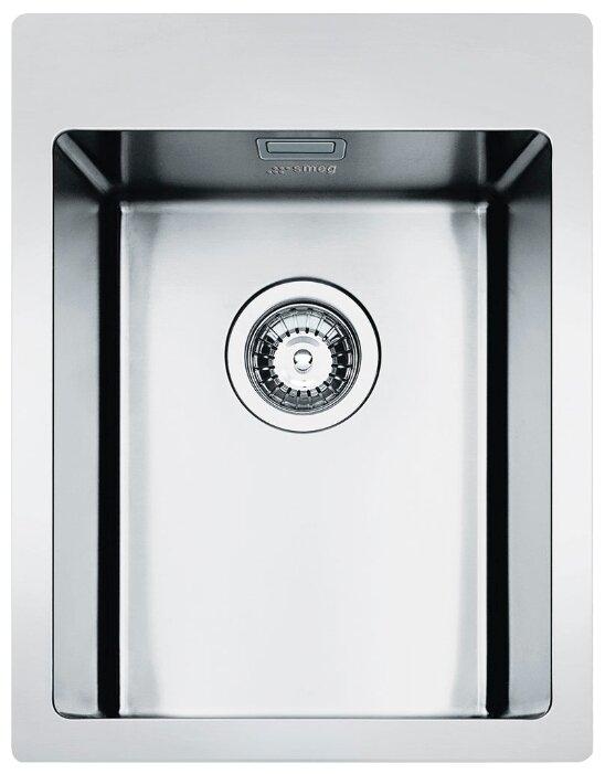 Врезная кухонная мойка smeg LFT34RS 40.2х50см нержавеющая сталь
