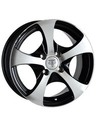 RS Wheels TI06 5,5x0 4x98 ET 35 Dia 58,6 (черный MB) - фото 1