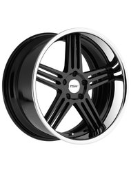 Диски TSW Nouvelle 8,0x18 5x114,3 D76 ET35 цвет Gloss Black Chrome Lip - фото 1