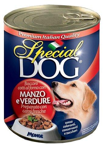 Корм для собак Special Dog Кусочки Говядины с овощами
