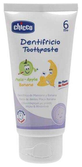 Зубная паста Chicco со вкусом яблока и банана с 6 месяцев