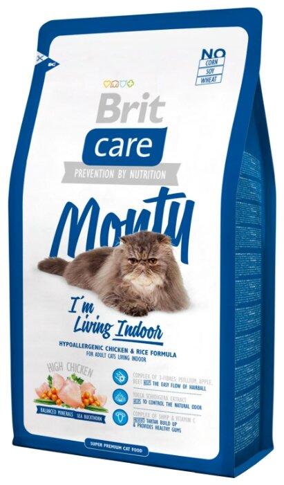 Купить Корм для кошек Brit Care Monty с курицей 2 кг по низкой цене с доставкой из Яндекс.Маркета (бывший Беру)