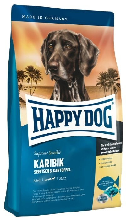 Корм для собак Happy Dog Supreme Sensible - Karibik с морской рыбой, без злаков
