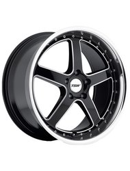 Диски TSW Carthage 8,0x17 5x108 D72 ET40 цвет Gloss Black Mirror Lip - фото 1