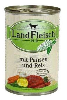 Корм для собак Dr. Alder`s ЛАНДФЛЯЙШ Деревенское мясо рубец + рис + овощи рубленое мясо Для взрослых собак (0.4 кг) 1 шт.