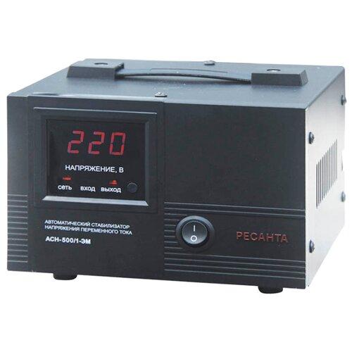 Стабилизатор напряжения однофазный РЕСАНТА ACH-500/1-ЭМ (0.5 кВт) стабилизатор ресанта ach 500 н 1ц