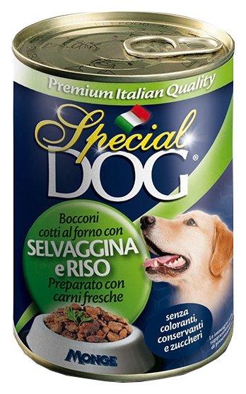 Корм для собак Special Dog Кусочки Дичи с рисом (0.400 кг) 24 шт.