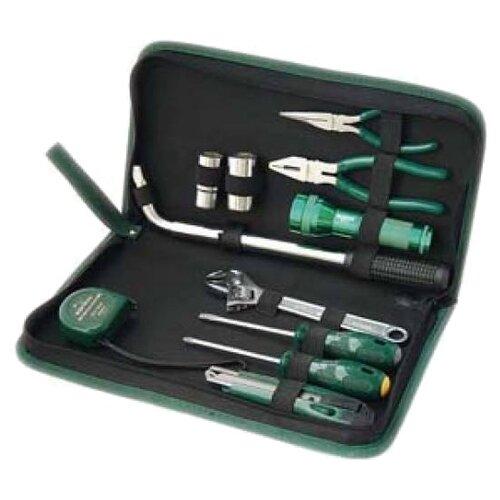 Набор инструментов SATA (11 предм.) 06011 черный/зеленый набор инструментов sata 53пр для электротехнических работ 09535