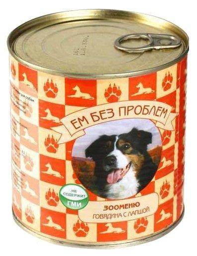 Корм для собак Ем Без Проблем Зооменю для собак Говядина с лапшой (0.75 кг) 1 шт.