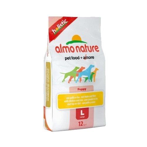 Сухой корм для щенков Almo Nature Holistic, курица 12 кг (для крупных пород) сухой корм для щенков almo nature holistic курица 12 кг для мелких пород