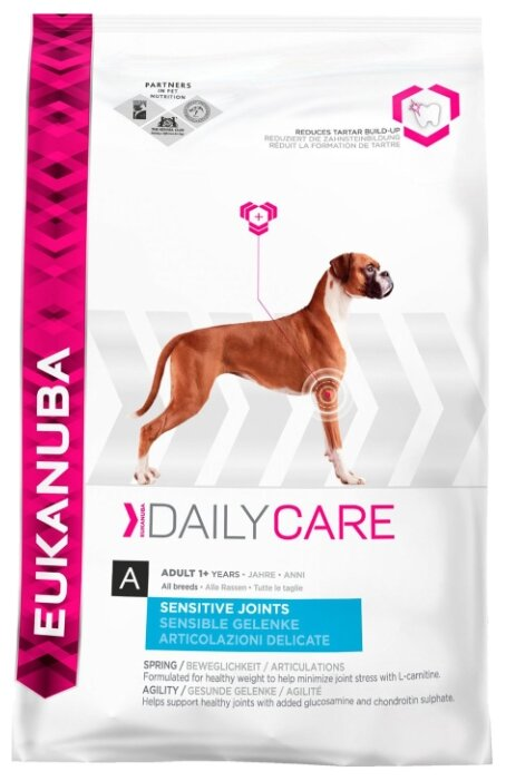Корм для собак Eukanuba Daily Care Adult Dry Dog Food Sensitive Joints Chicken