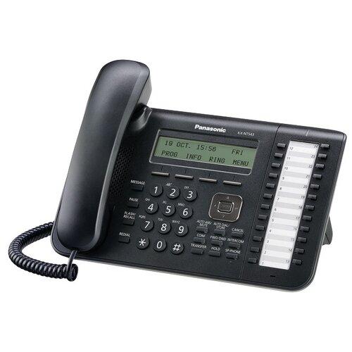 VoIP-телефон Panasonic KX-NT543 черный телефон panasonic kx ts2570 черный