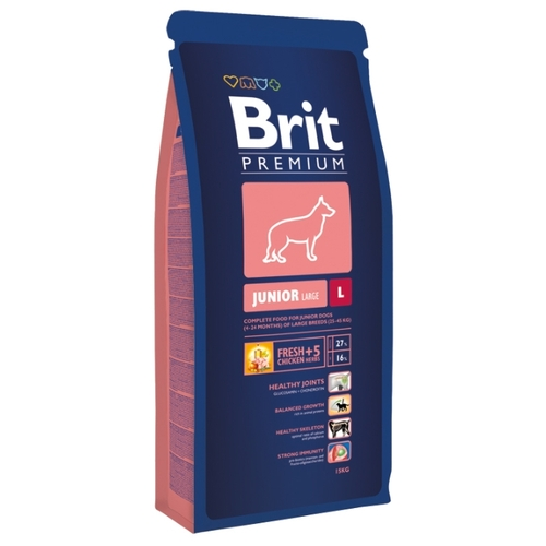 Корм для собак Brit Premium Junior L (18 кг)