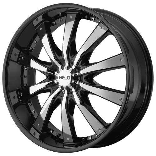 Колесные диски Helo HE875 10x28/5x139.7 D87.1 ET15 Gloss Black With Removable Chrome Accents