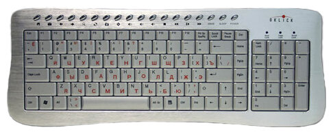 Oklick 380 M Office Keyboard Silver USB