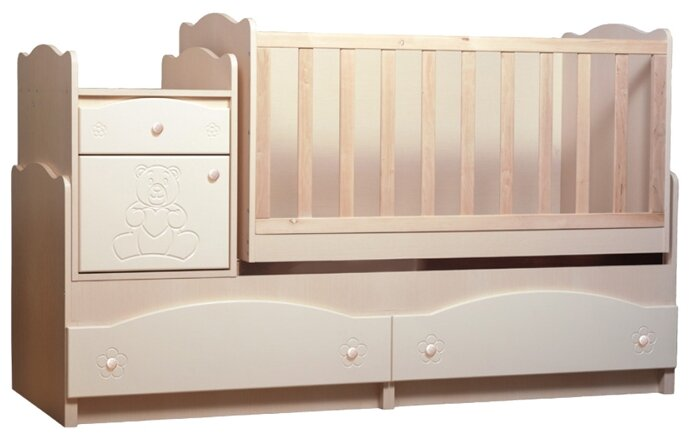 Кроватка Вальтер Мишка 5 в 1 (трансформер)