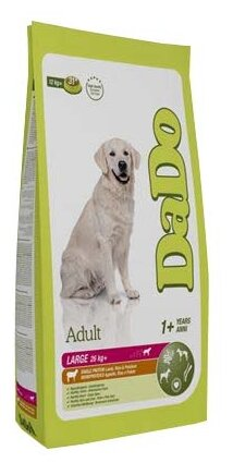 Корм для собак DaDo Для собак крупных пород с ягненком, рисом и картофелем