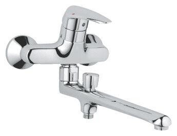 Однорычажный смеситель для ванны с душем Grohe Eurodisc 33125