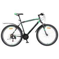 """Велосипед Для Взрослых Stels Navigator 600 V 26 V020 (2017) 18"""" Антрацитовый/зелёный"""