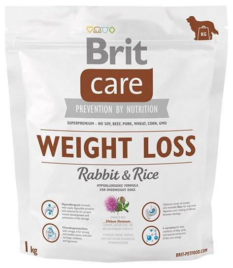 Корм для собак Brit Care кролик с рисом 1 кг