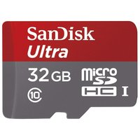 SanDisk Ultra microSDHC Class 10 UHS-I 48MB/s 32GB + SD adapter