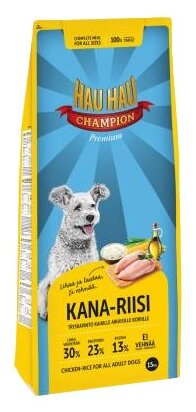 Корм для собак Hau-Hau Champion Chicken-Rice Adult (15 кг)