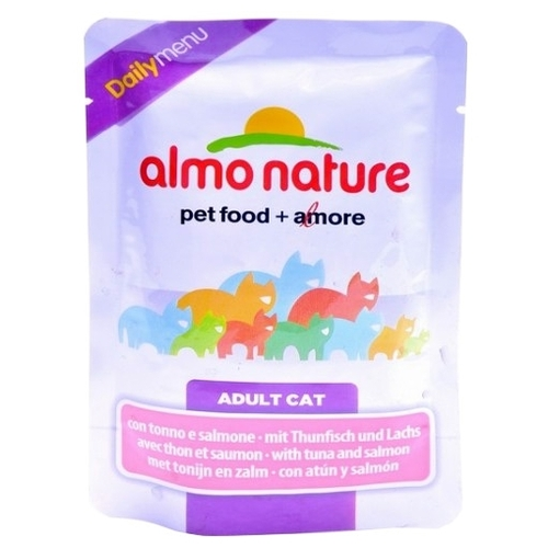 Корм для кошек Almo Nature DailyMenu Adult Cat Tuna and Salmon (0.07 кг) 12 шт.