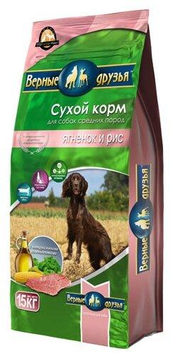 Корм для собак Верные друзья Сухой для средних пород - Ягненок и рис