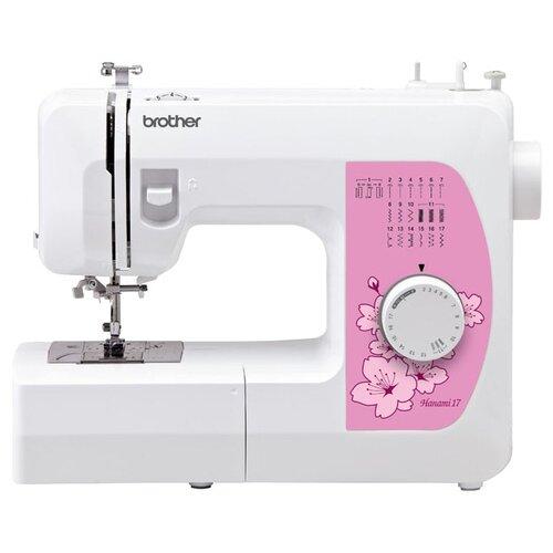 Фото - Швейная машина Brother Hanami 17, бело-розовый швейная машинка brother hanami 27s