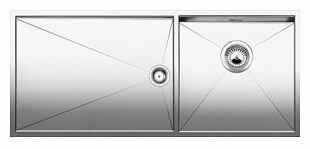 Интегрированная кухонная мойка Blanco Zerox 400/550-T-IF/N 101.5х44см нержавеющая сталь