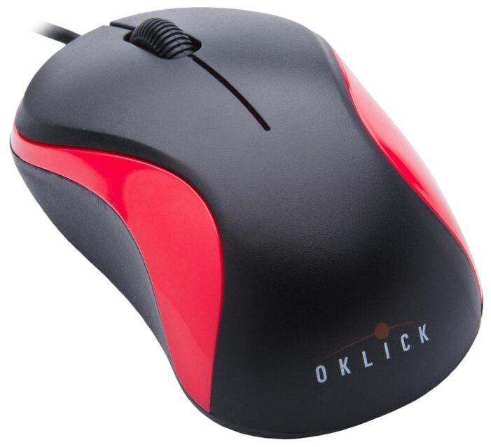 Мышь Oklick 115S Optical Mouse for Notebooks Black-Red USB