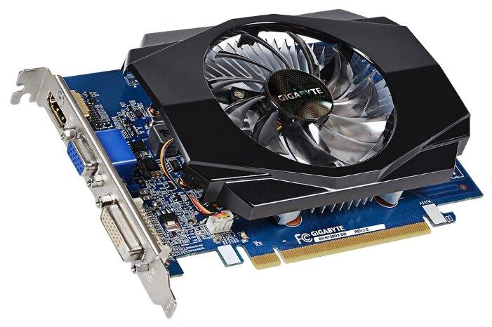 GIGABYTE Видеокарта GIGABYTE GeForce GT 730 902Mhz PCI-E 2.0 2048Mb 1800Mhz 64 bit DVI HDMI HDCP