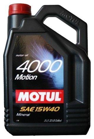 Моторное масло Motul 4000 Motion 15W40 4 л