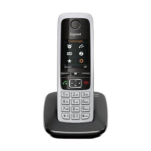 Радиотелефон Gigaset C430 черный/серебристый радиотелефон