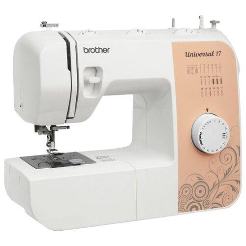 Швейная машина Brother Universal 17, белый-коричневый швейная машина brother x 4 белый
