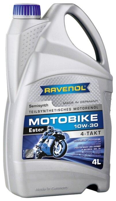 Моторное масло Ravenol Motobike 4-T Ester SAE 10W-30 4 л