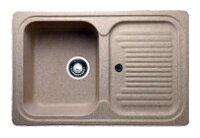 Врезная кухонная мойка Granicom G-013 78х50см искусственный мрамор