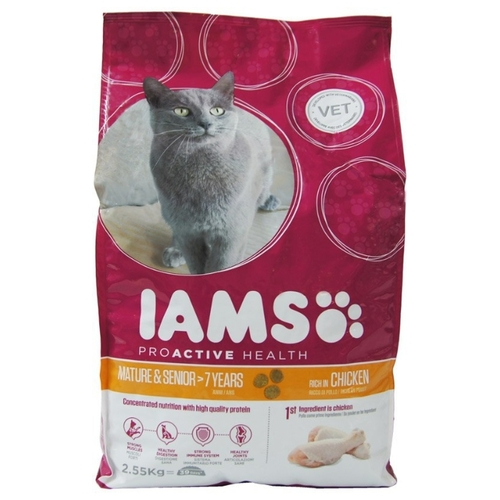 Корм для кошек Iams (2.55 кг) ProActive Health Mature and Senior Rich in Succulent Roast Chiken