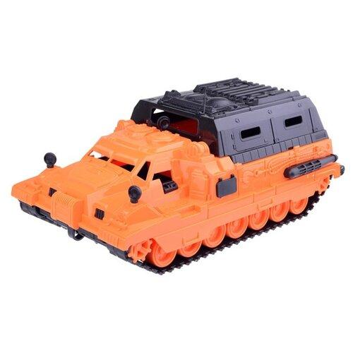 Вездеход Нордпласт Геолог с кунгом (234) 31 см оранжевый/черный