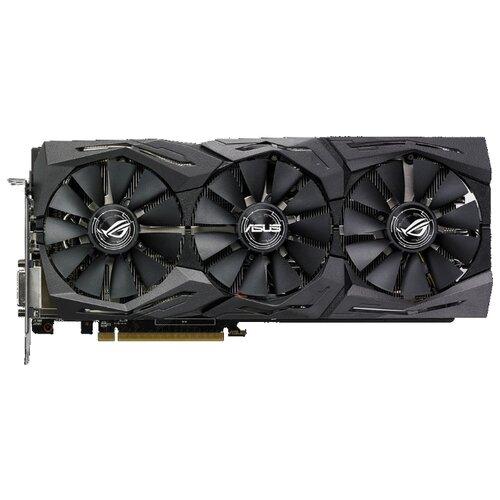 Видеокарта ASUS ROG Radeon RX 580 1411MHz PCI-E 3.0 8192MB 8000MHz 256 bit DVI 2xHDMI 2xDisplayPort HDCP Strix Gaming Top Retail