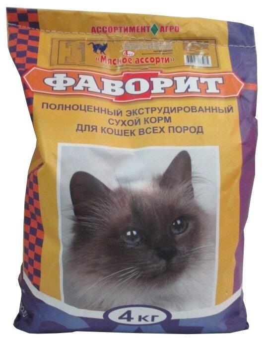 Корм для кошек Фаворит Мясное ассорти