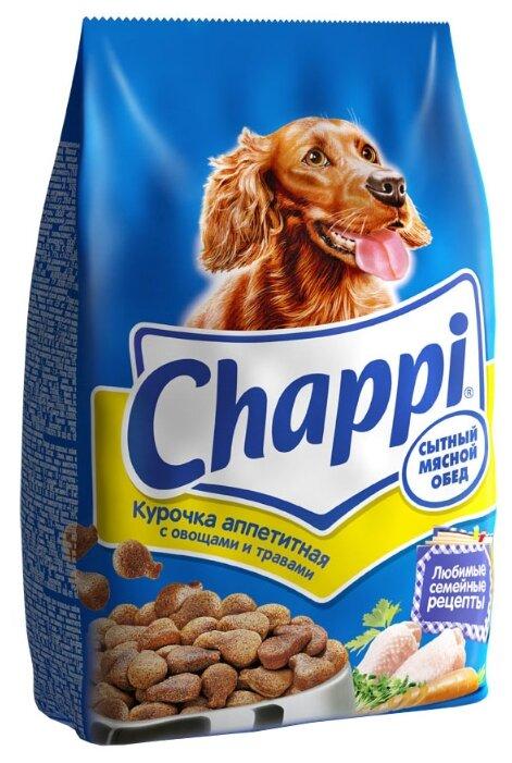 Корм для собак Chappi Сухой корм Курочка аппетитная с овощами и травами
