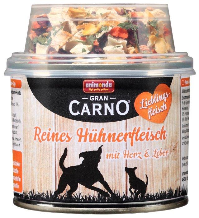 Корм для собак Animonda GranCarno Lieblingsfleisch курица 210г