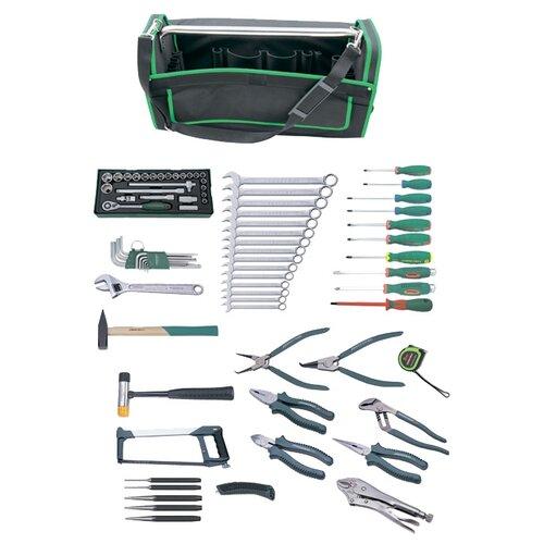 Набор инструментов JONNESWAY C-HA78S, 78 предм., зеленый/черный